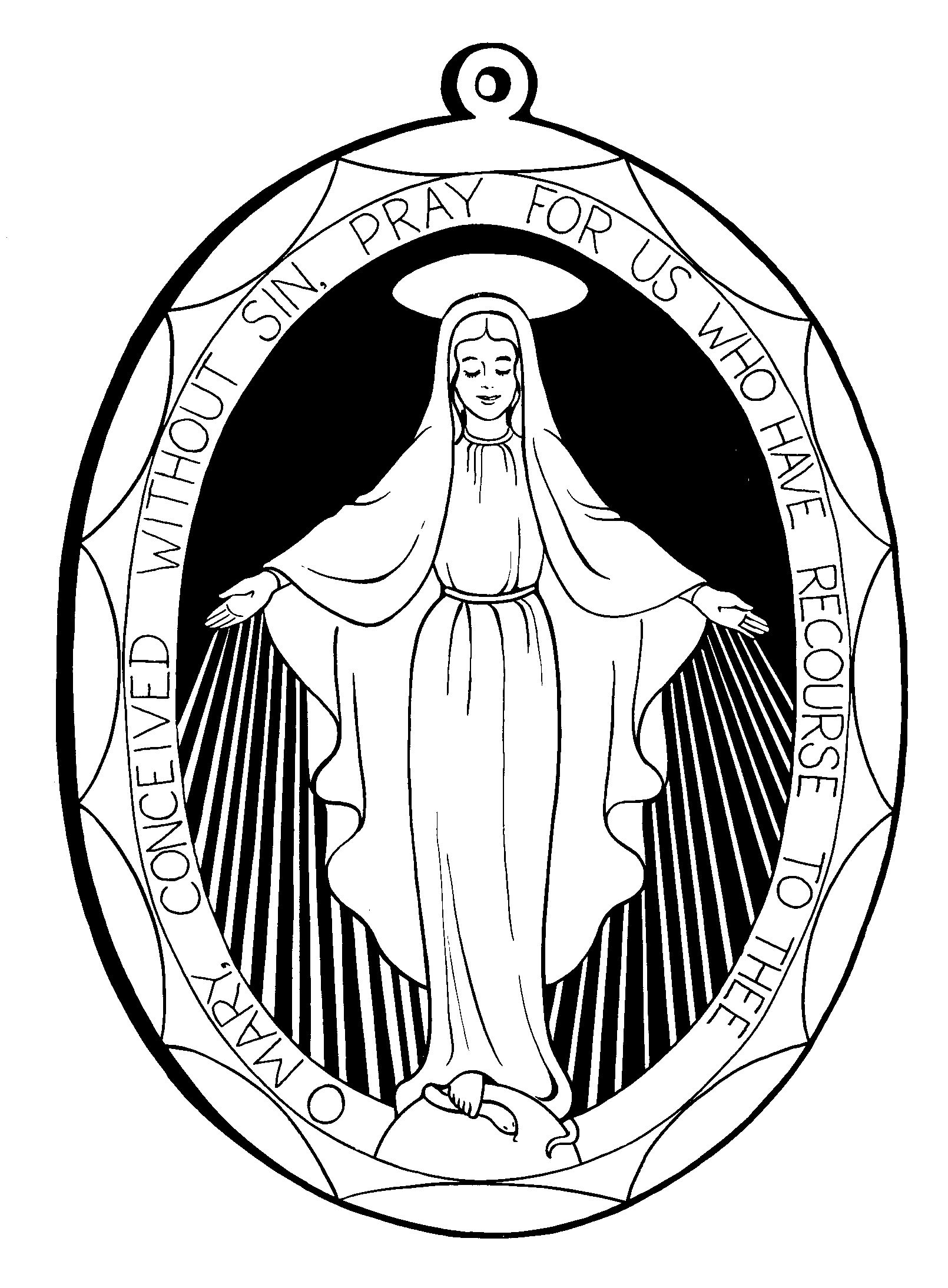 Free clipart of mary and jesus black and white stock Clip Art of Mary Mother of Jesus for Preschoolers – Clipart Free ... black and white stock