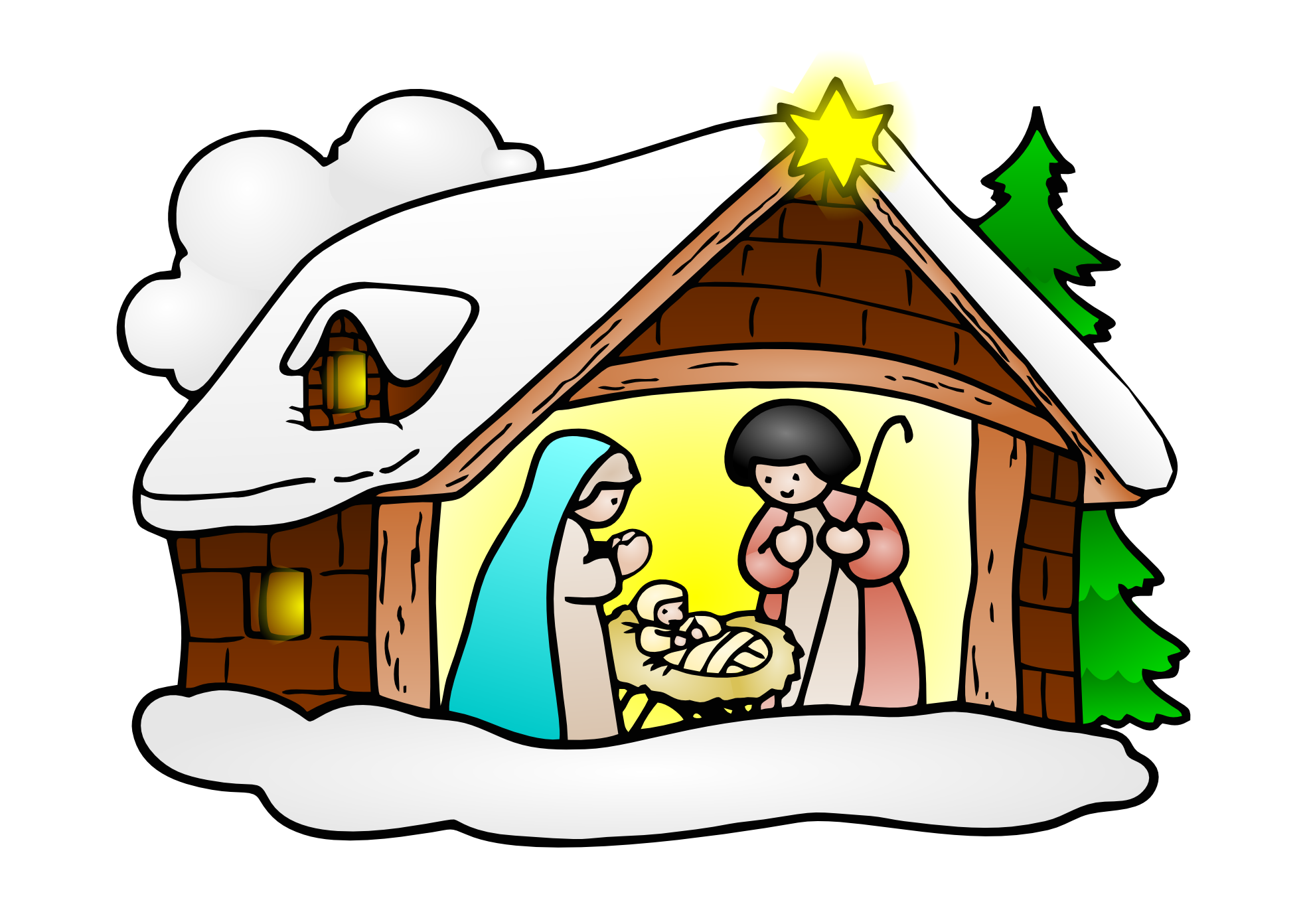 Free jesus and mary clipart vector black and white stock Free clip art baby jesus christmas clipartfest | Rock Art ... vector black and white stock