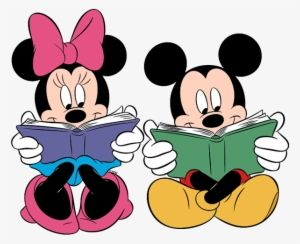 Free clipart of minnie mouse at reading image library Mickey Minnie Reading - Mickey And Minnie Mouse Reading | mickey and ... image library