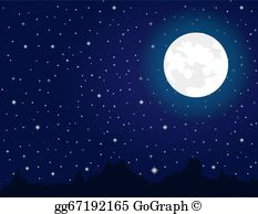 Free clipart of moon and stars image transparent download Moon Stars Clip Art - Royalty Free - GoGraph image transparent download