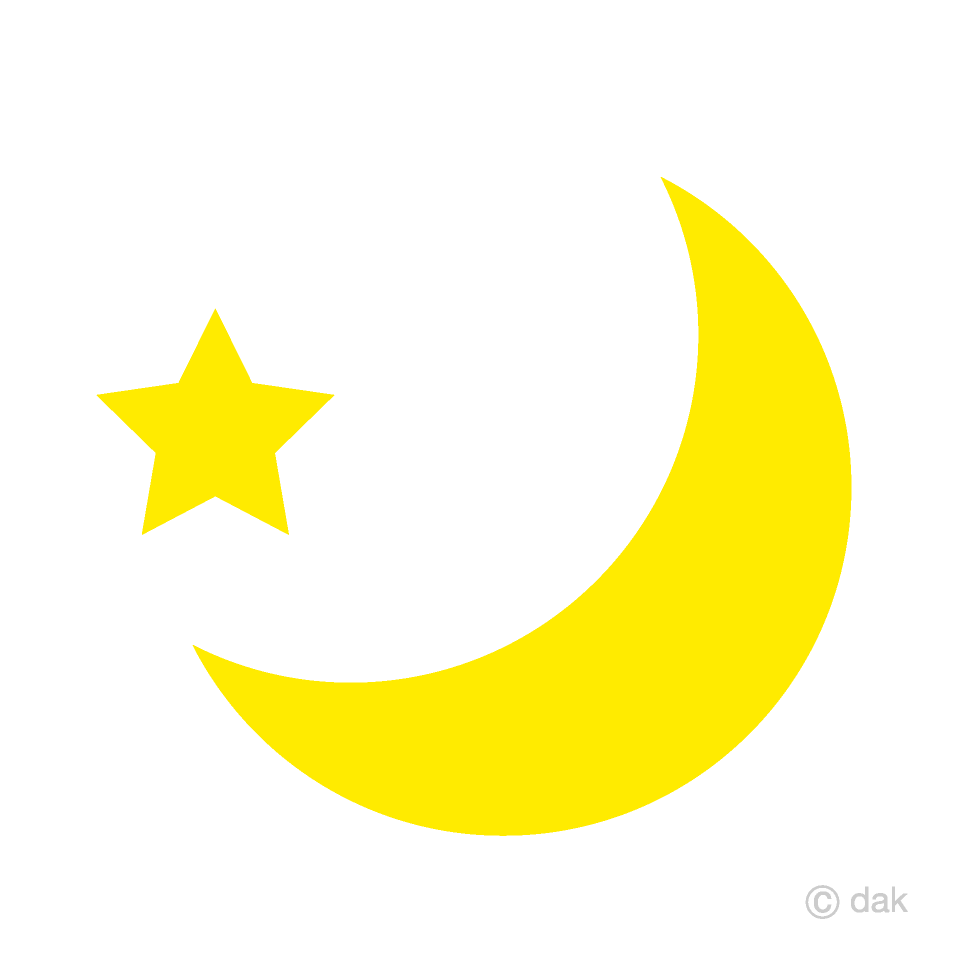 Free clipart of moon and stars png library stock Crescent Moon and Star Clipart Free Picture|Illustoon png library stock