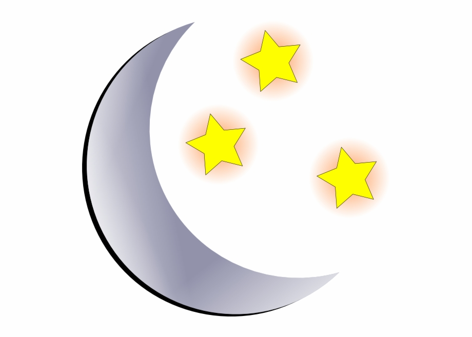 Free clipart of moon and stars clipart freeuse library Black Stars And Moon Clipart Free Images - Moon And Stars Cartoon ... clipart freeuse library