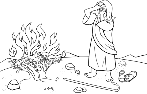 Free clipart of moses face to face with god svg transparent Moses Hid His Face Being Afraid to Look at God coloring page | Free ... svg transparent