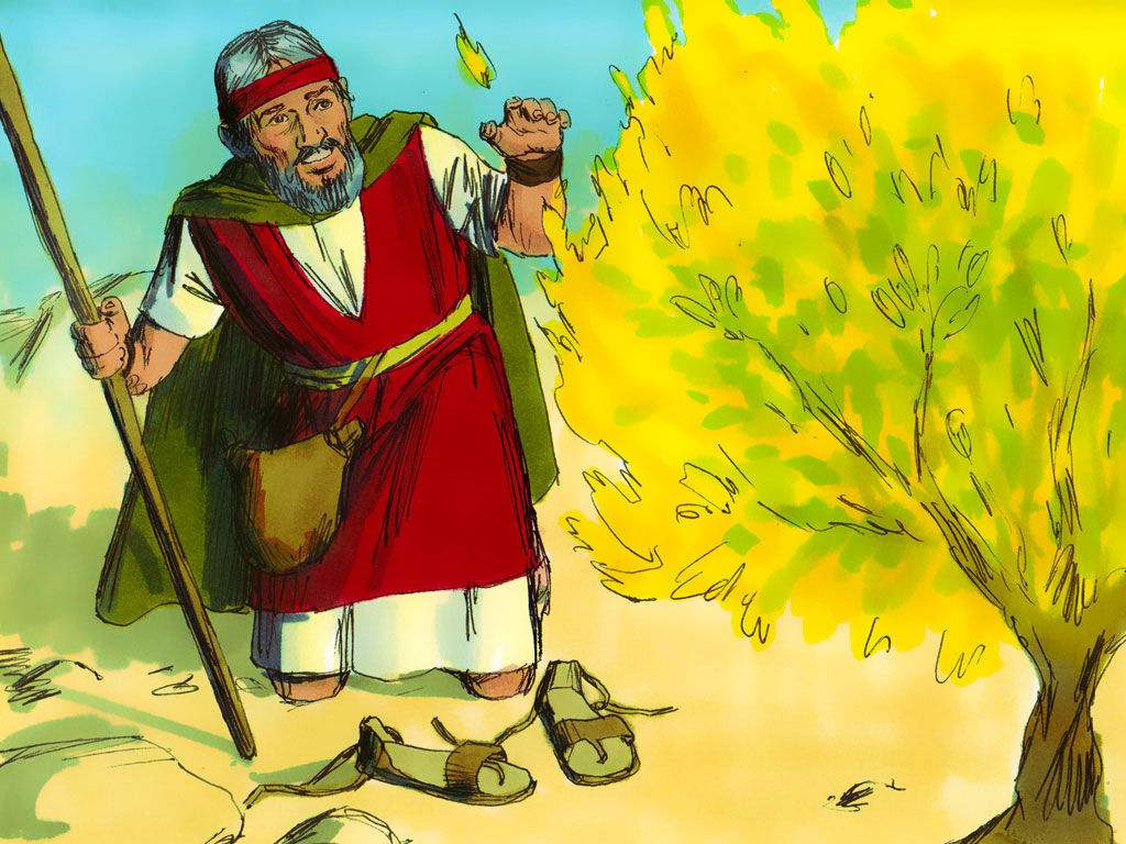 Free clipart of moses face to face with god image royalty free library FreeBibleimages :: Moses and the Burning Bush :: Moses and the ... image royalty free library