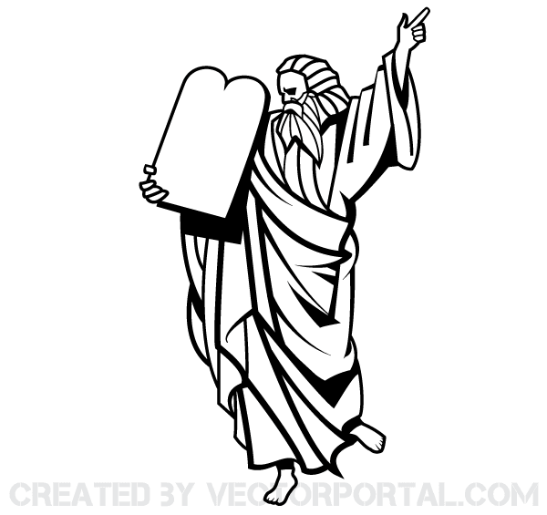 Free clipart of moses face to face with god clip stock Moses Vector Image | Free Vectors | Free vector images, Vector free ... clip stock