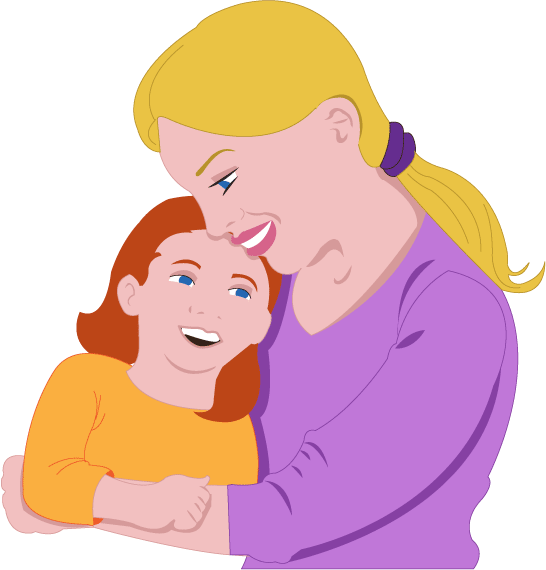 Daughter download clip art. Free black and white clipart mother comforting child