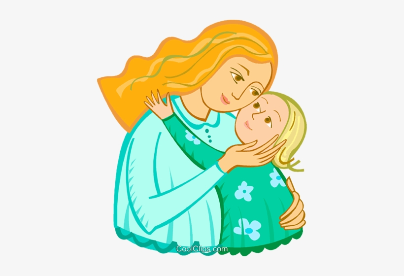 Free mother and child clipart picture black and white download Mother And Child Royalty Free Vector Clip Art Illustration - Mother ... picture black and white download