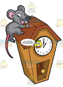 Free clipart of mouse holes in houses. A running up clock