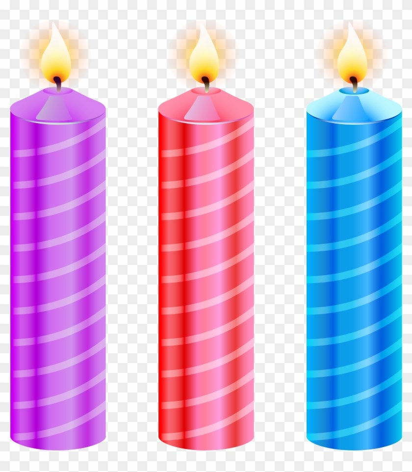 Candle portal . Free clipart of number 3 birthday candles