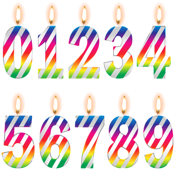 Free clipart of number 3 birthday candles. Download best