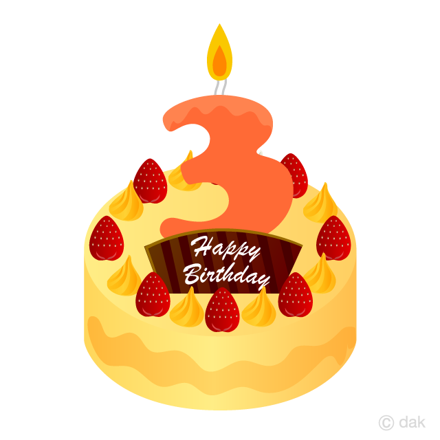 Free clipart of number 3 birthday candles.  years old candle
