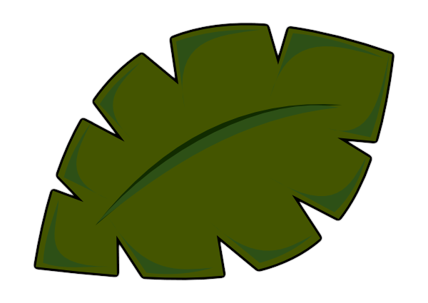 Tree leaf template clip. Free clipart of palm leaves