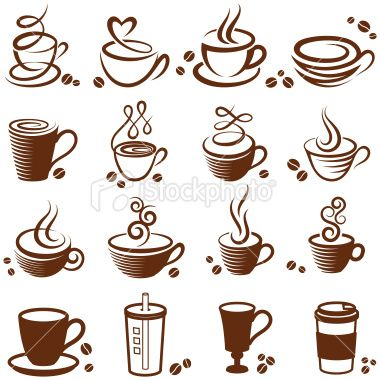 Free clipart of parents in need of coffee jpg library Coffee cup vector white icon set | SVG Files | Coffee tattoos, Cup ... jpg library