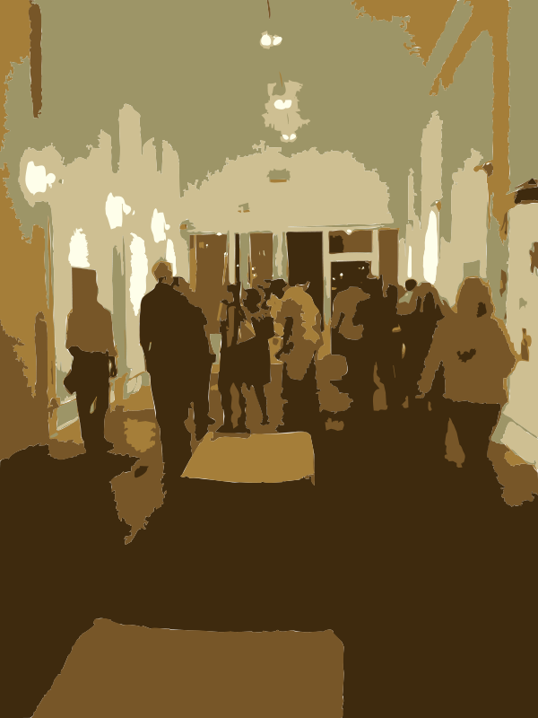 Free clipart of people in elevator banner Free Clipart: Elevator Full of People | rejon banner