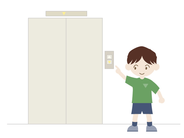 Free clipart of people in elevator svg transparent A child riding an elevator | Free clipart | People material ... svg transparent