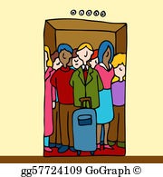 Free clipart of people in elevator jpg transparent library People Elevator Clip Art - Royalty Free - GoGraph jpg transparent library
