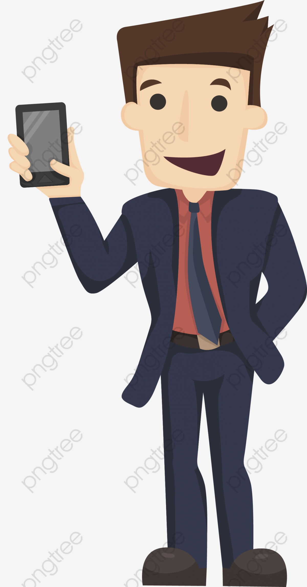 Mobile phones for young. Free clipart of person looking at phone and smiling