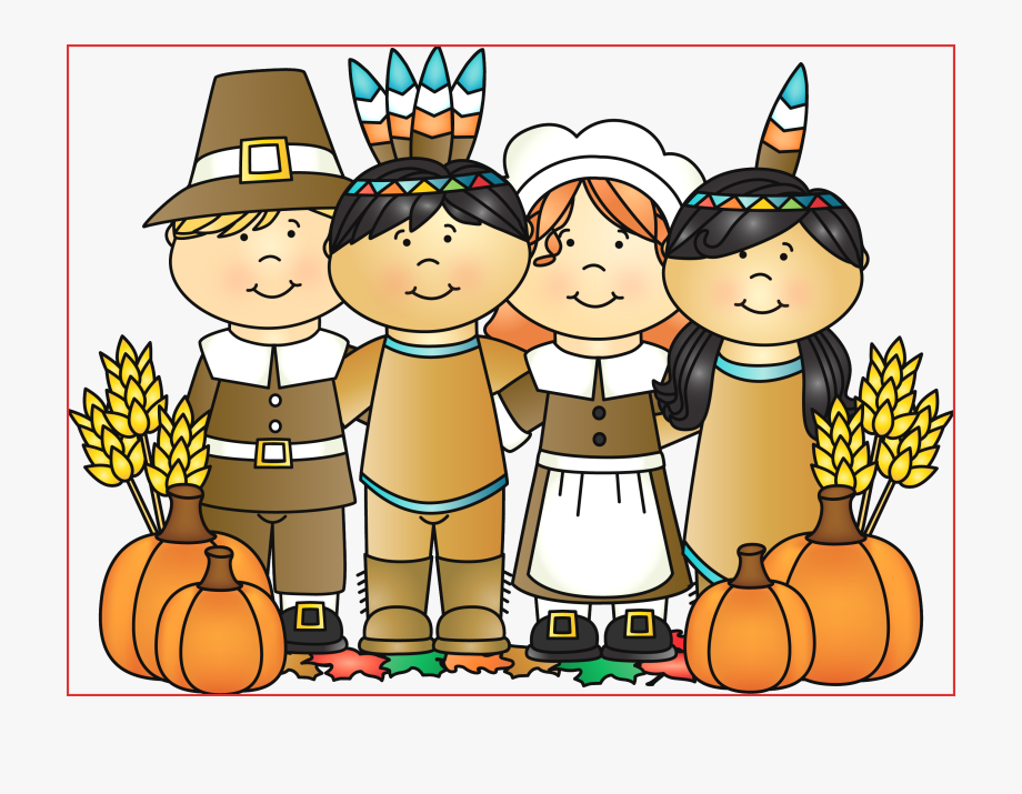 Pilgrims and indians clipart by melon headz graphic transparent Pin America Clipart Thanksgiving - Thanksgiving Pilgrims And Indian ... graphic transparent