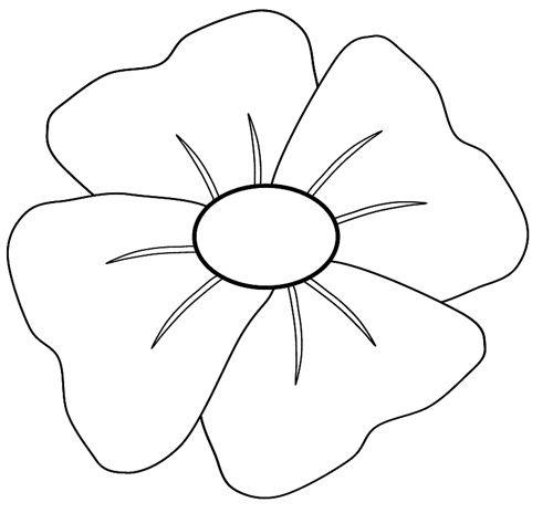 Poppy outline clipart