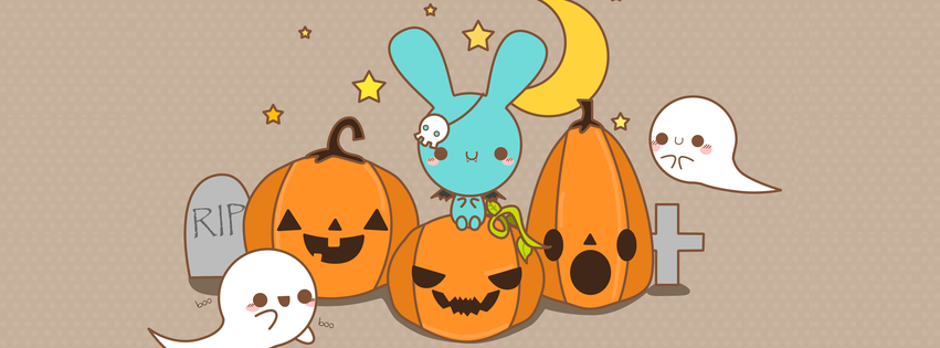 Free clipart of pumpkins for facebook cover photo library Halloween - Pumpkins & Ghosts | Free Facebook Covers, Facebook ... library
