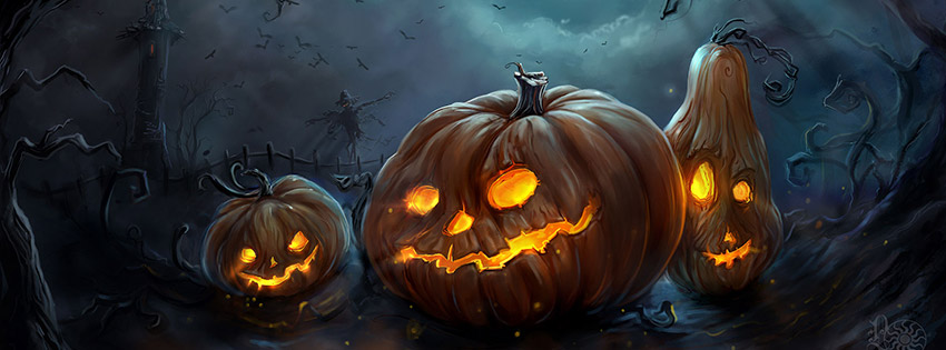 Free clipart of pumpkins for facebook cover photo clip black and white library 20 Scary Happy Halloween 2014 Facebook Cover Photos clip black and white library