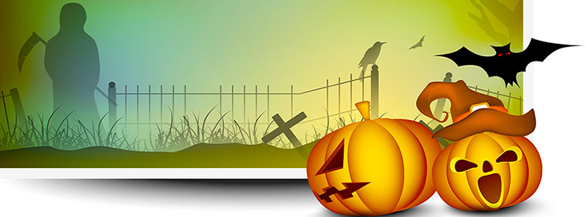 Free clipart of pumpkins for facebook cover photo svg royalty free stock Free Halloween Facebook Covers - Clipart - Timeline - Images svg royalty free stock