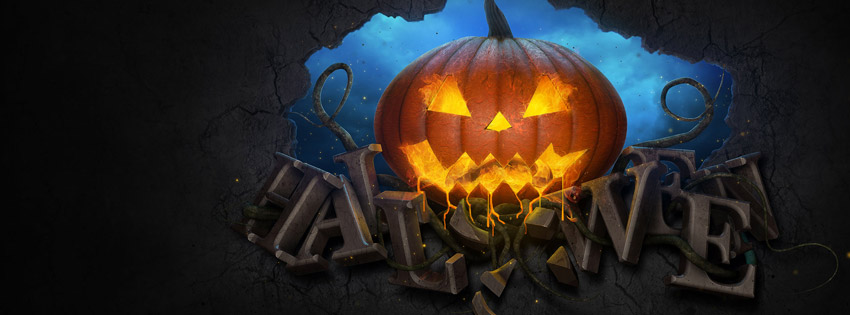 Free clipart of pumpkins for facebook cover photo svg free library 20 Scary Happy Halloween 2014 Facebook Cover Photos svg free library