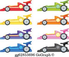 Racecar clipart free stock Race Car Clip Art - Royalty Free - GoGraph free stock