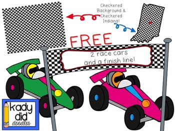 Free clipart of race cars banner transparent download FREE Race Car Clipart - by Kady Did Doodles banner transparent download