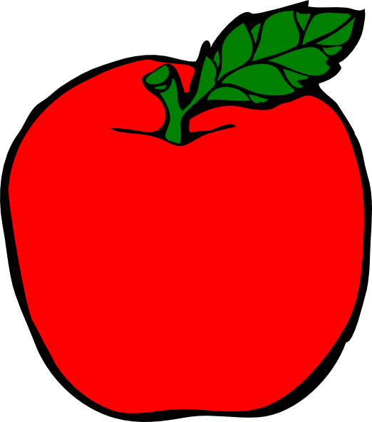 Red apple outline clipart banner royalty free Red Apple Clip Art at Clker.com - vector clip art online, royalty ... banner royalty free