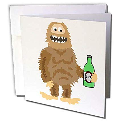 Free clipart of sasquatch drinking a beer clipart black and white Amazon.com : 3dRose All Smiles Art - Funny - Cute Funny Unique ... clipart black and white