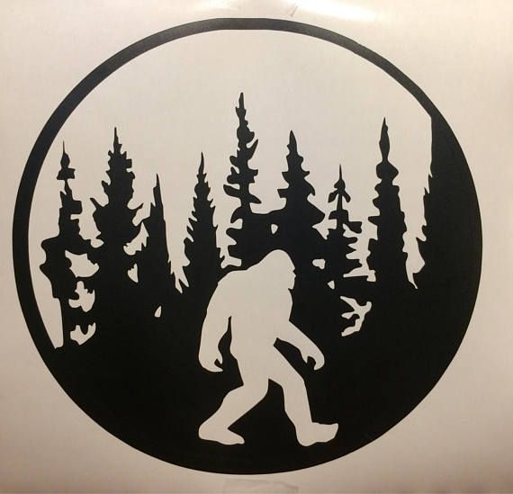 Free clipart of sasquatch drinking a beer banner library Bigfoot decal bigfoot decal with trees unique cryptids sasquatch ... banner library
