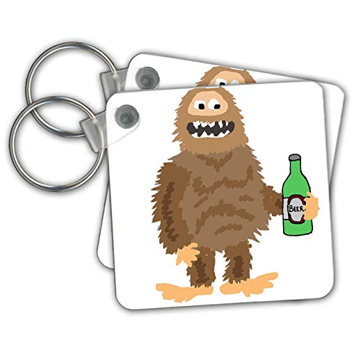 Free clipart of sasquatch drinking a beer image library library Amazon.com: All Smiles Art - Funny - Cute Funny Unique Bigfoot or ... image library library