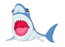 Clip art pictures graphics. Free clipart of shark eyes and teeth