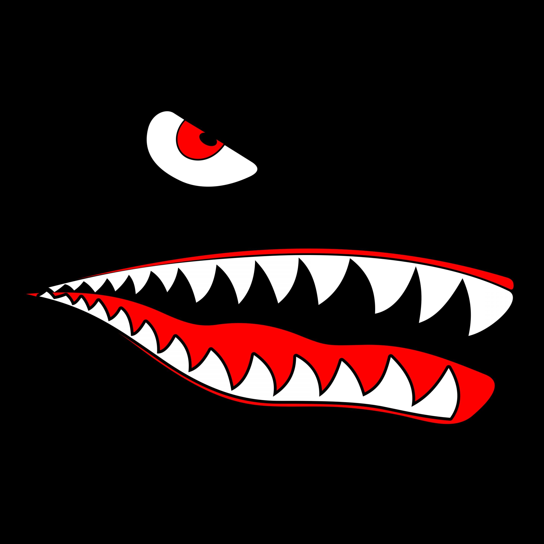 Free clipart of shark eyes and teeth