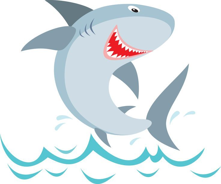 Free shark clipart cartoon