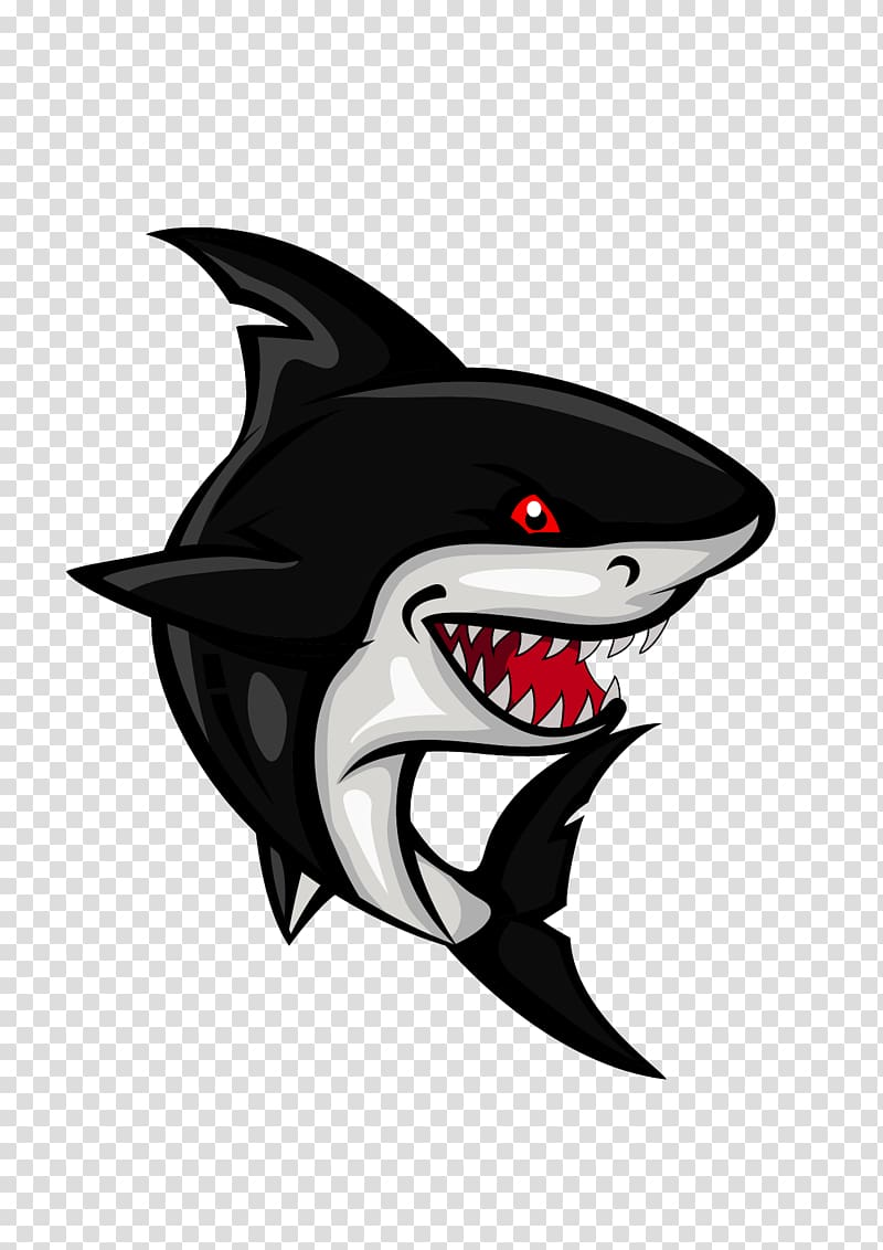 Free clipart of shark eyes and teeth vector black and white library Black and gray shark , Shark Cartoon , Shark transparent background ... vector black and white library