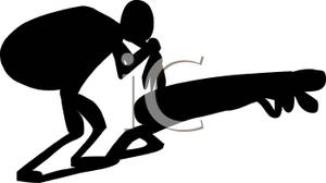 Free clipart of someone carring something on their back. A black silhouette man