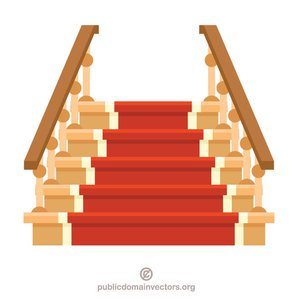 public domain vectors. Free clipart of stairs