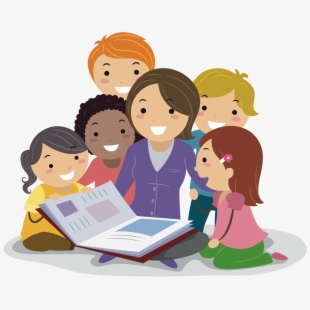 Free clipart of teacher reading to students banner free library Teacher Reading Clipart , Png Download - Teacher And Class Clipart ... banner free library