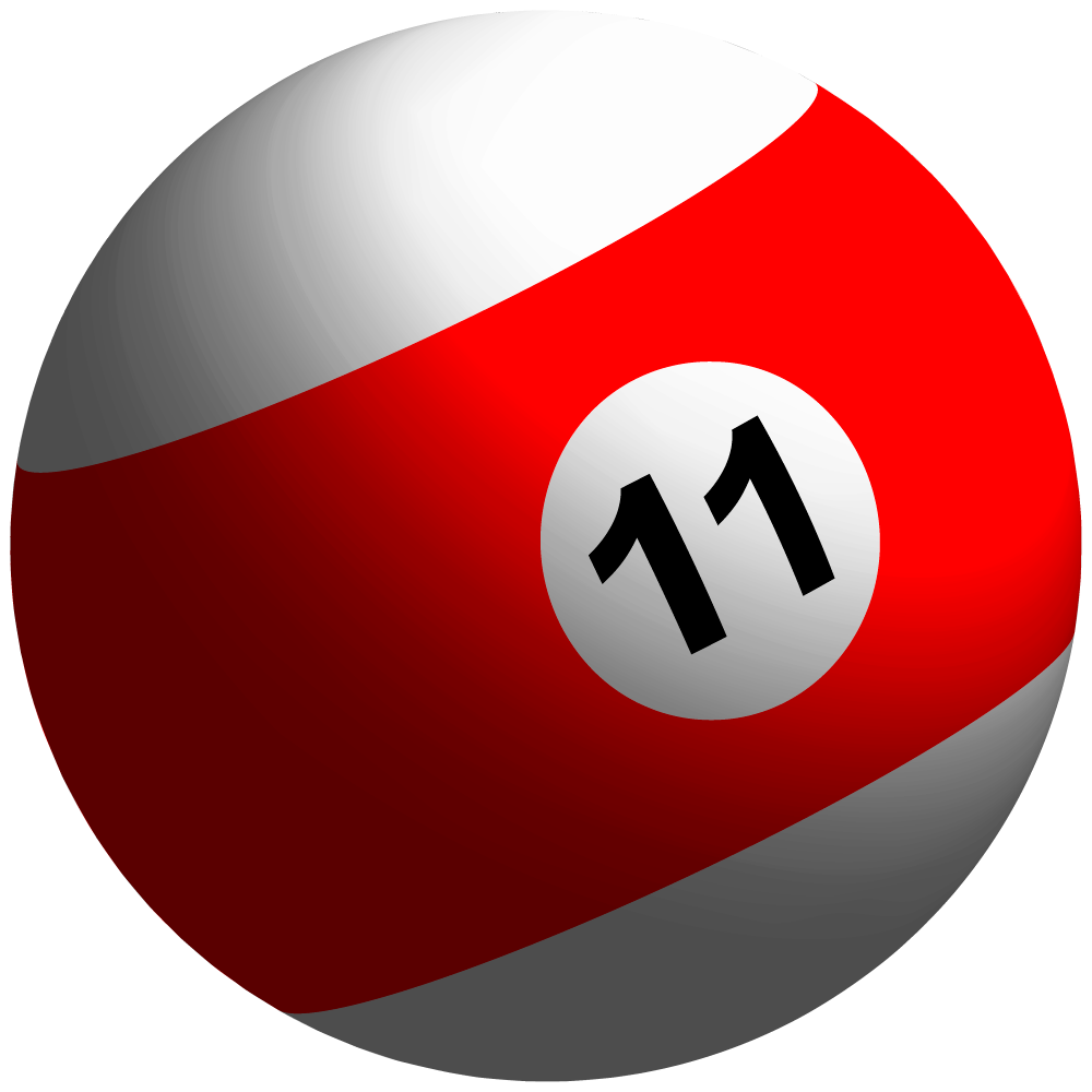 Free clipart of the billiard ball number 11