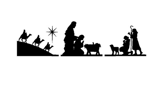Free nativity clipart black and white picture free stock Free Nativity Cliparts, Download Free Clip Art, Free Clip Art on ... picture free stock