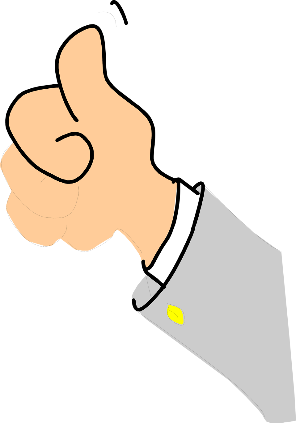 Man with thumbs up clipart clip freeuse stock Thumbs Up | Free Stock Photo | Illustration of a cartoon hand giving ... clip freeuse stock