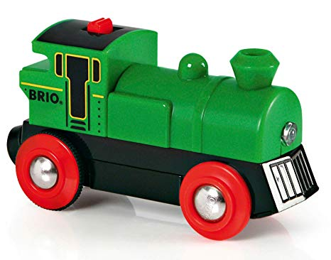 Free clipart of train cars going backwards down a hill png library BRIO World - 33595 Battery Powered Engine Train | Toy Train for Kids Ages 3  and Up png library