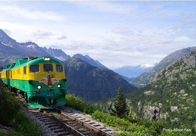 Free clipart of train cars going backwards down a hill clipart Skagway White Pass Railroad Summit Excursion & Train Tour clipart