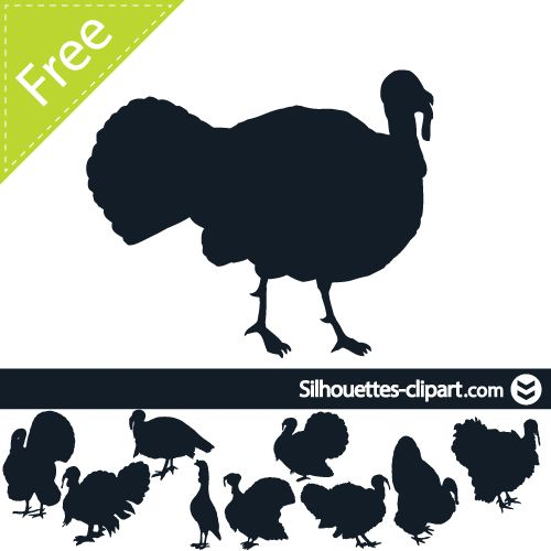 Turkey silhouette clipart free clipart free download turkey vector silhouette | silhouettes clipart | Silhouettes ... clipart free download