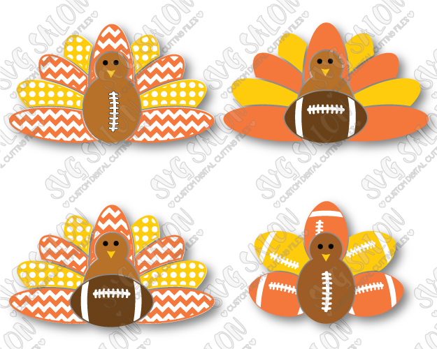 Free clipart of turkeys with pattern fathers cricuts clipart stock Thanksgiving Football Turkey Cut File Set in SVG, EPS, DXF, JPEG, and PNG clipart stock
