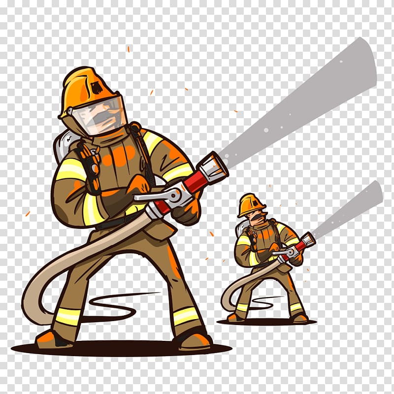 Free clipart of water from fire hose vector royalty free library Firefighter Cartoon Fire hose, Fire firefighters transparent ... vector royalty free library