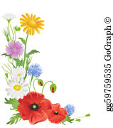 Wildflower clip art royalty. Free clipart of wild flowers
