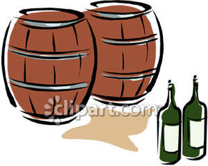 Free clipart of wine barrel clip art free library Two Wine Barrels - Royalty Free Clipart Picture clip art free library